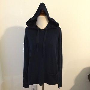Athleta Hooded Verona Sweater Small Navy Blue